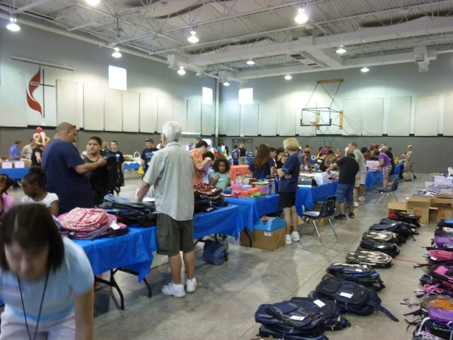 Rotary Club at the Back to School Bash