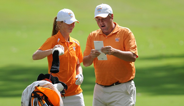 Former Tennessee assistant Andrew Pratt with player Lauren Spurlock