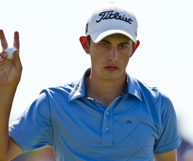 Patrick Cantlay during the semifinals of the U.S. Amateur.