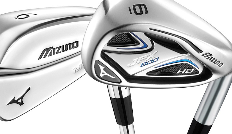 View of Mizuno's MP-69 and JPX irons