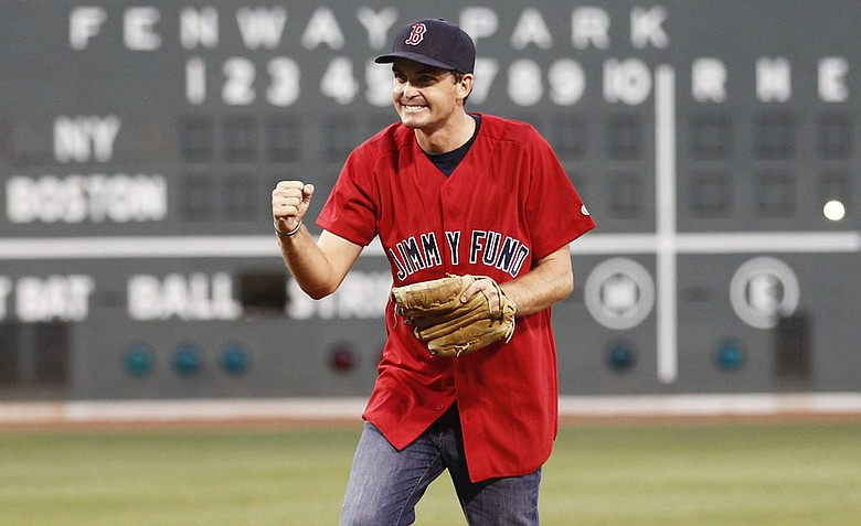 PGA champion Keegan Bradley after throwing out the first pitch at this week's Boston Red Sox game.