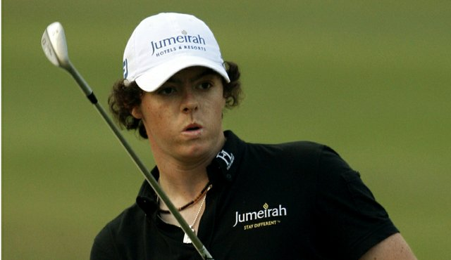Rory McIlroy climbed to the top of the leaderboard during Round 2 of the European Masters and into a four-way tie for the lead.