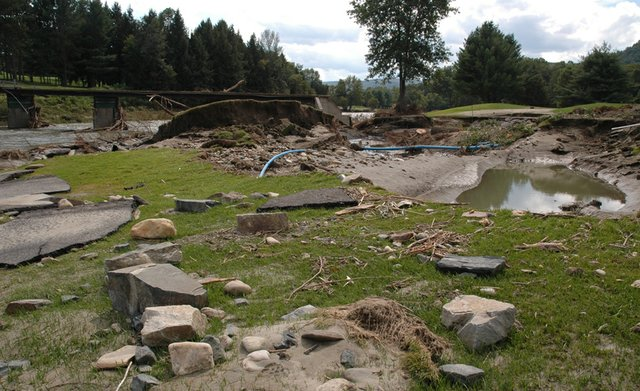 The Lakeland course at the The Quechee Club in Quechee, Vermont was damaged by Hurricane Irene.