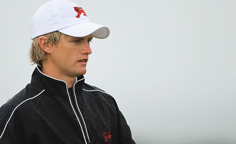 Tom Lewis (pictured) and playing partner Michael Stewart knocked off the U.S. duo of Peter Uihlein and Harris English, 2 and 1, in Walker Cup foursomes play at the Balgownie Links at Royal Aberdeen Golf Club.