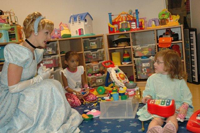 Cinderella visits patients