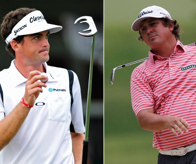 Keegan Bradley and Jason Dufner during the first round of the Tour Championship