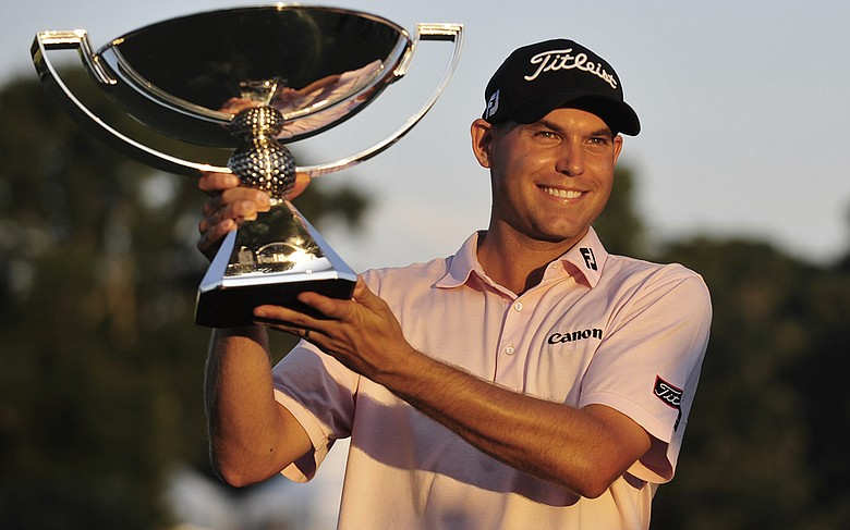 Bill Haas after winning the Tour Championship.