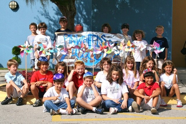 "The Jewish Academy of Orlando participated in ""Pinwheels for Peace"" Sept. 21."