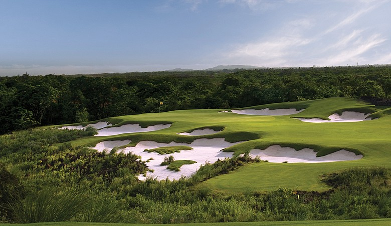 No. 15 on the Blackstone Course at Mission Hills Hainan, site of November's World Cup.
