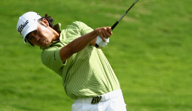 Kevin Na shot a second-round 63 at the Justin Timberlake Shriners Hospitals for Children Open.