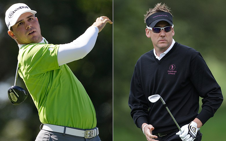 Gary Woodland and Ian Poulter