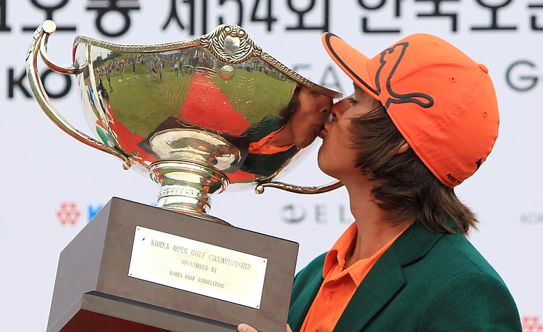 Rickie Fowler won his first professional title on Sunday at the Korea Open.