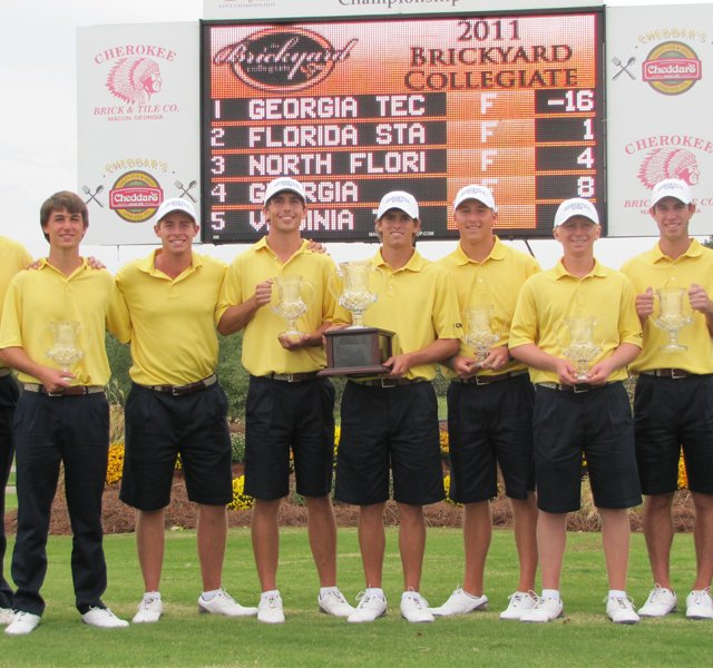 The Georgia Tech men&#39;s golf team won the Brickyard Collegiate on Oct. 9.