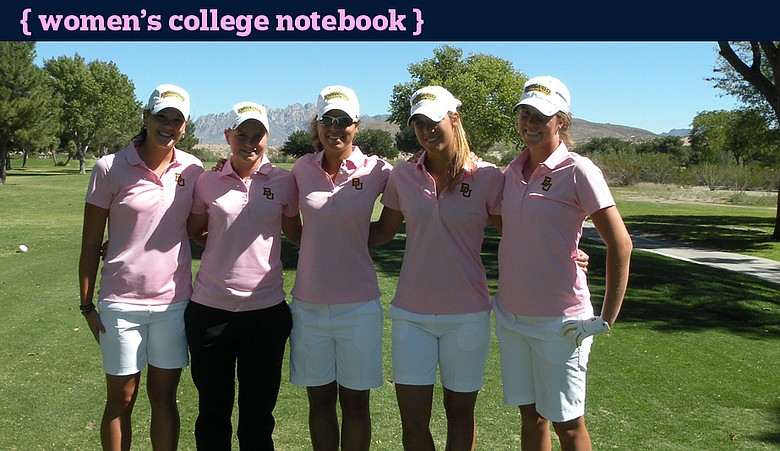 Baylor, from left: Jaclyn Jansen, Hayley Davis, Valerie Sternebeck, Stani Schiavone and Chelsey Cothran.