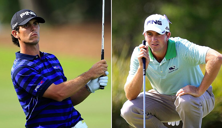 Billy Horschel and Michal Thompson during Round 3 of the McGladrey Classic.