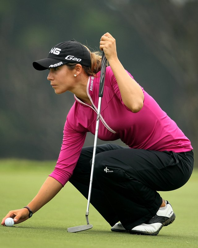 Azahara Munoz during Round 2 of the Sunrise LPGA Championship.