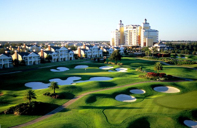 An aerial view of Reunion Resort in Orlando, Fla.