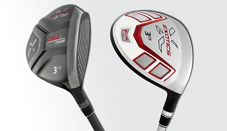 View of the CB4 and the XCGS fairway woods from Tour Edge