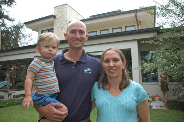 Rob and Denise Smith, with son Elliott, designed Central Florida's first LEED certified home, and they've been living in it ever since.