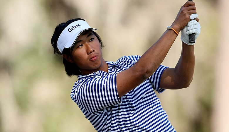 Phillip Choi during the final round of the 2011 SunTrust Gator Invitational on the Mark Bostick Golf Course.