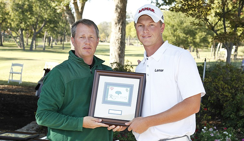 Lamar's M.J. Daffue won the individual title at the Royal Oaks Intercollegiate.