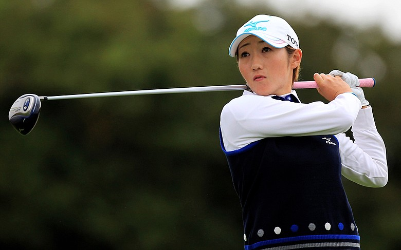 Akane Iijima during the 2010 Ricoh Women's British Open.