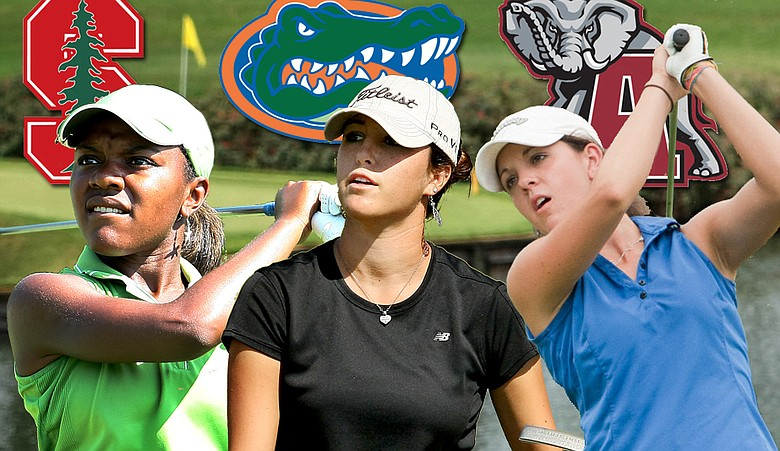 Mariah Stackhouse (from left), Jaye Marie Green and Emma Talley are among the top-ranked players in the class of 2012.