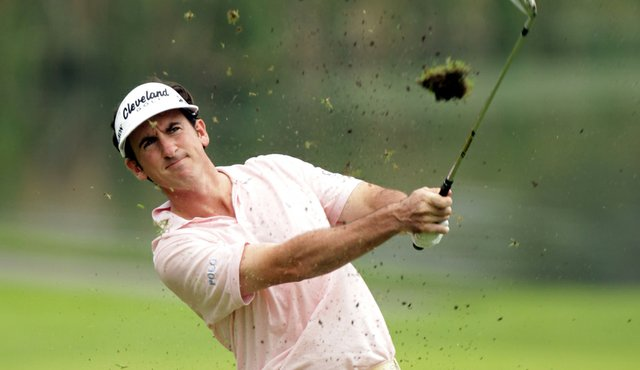 Gonzalo Fernandez-Castano during Round 3 of the Singapore Open.