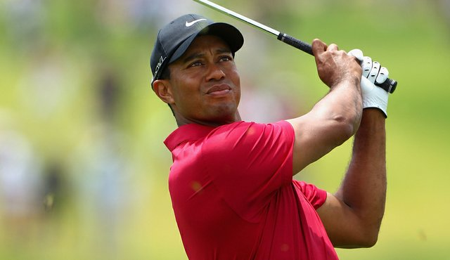 Tiger Woods during the final round of the Australian Open.