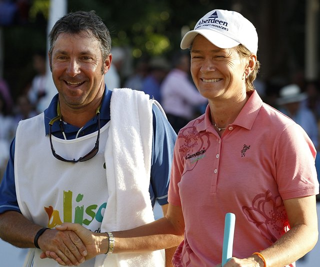 Catriona Matthew finished four shots ahead of defending champion I.K. Kim to win the Lorena Ochoa Invitational.
