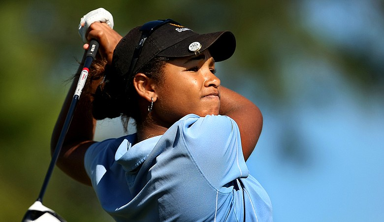 Ginger Howard during the first round of LPGA Q-School.