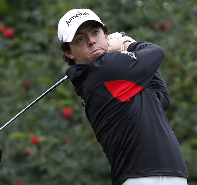 Rory McIlroy during Round 1 of the Hong Kong Open