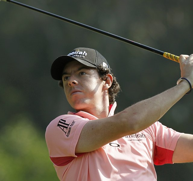 Rory McIlroy during Round 2 of the Hong Kong Open