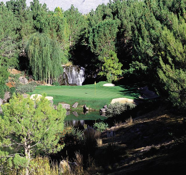 Hole No. 17 at Shadow Creek in North Las Vegas, Nev.