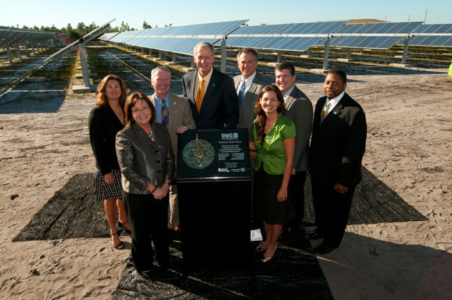Orlando Utilities Commission completed the first solar farm in Orange County.