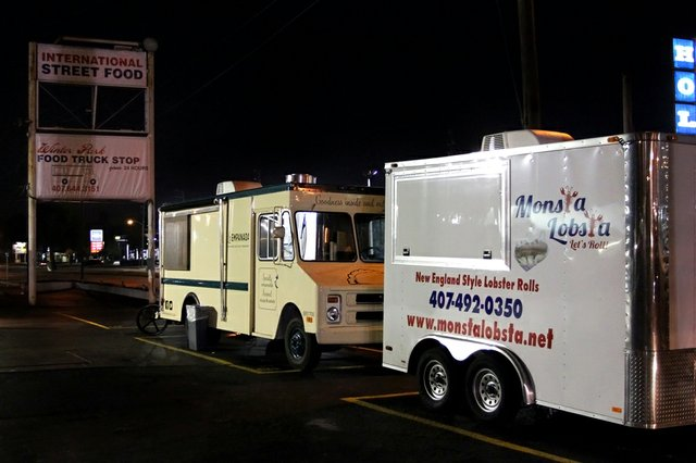 The Monsta Lobsta and La Empanada food trucks join other area trucks at the new Winter Park Food Truck Stop on Orlando Avenue.