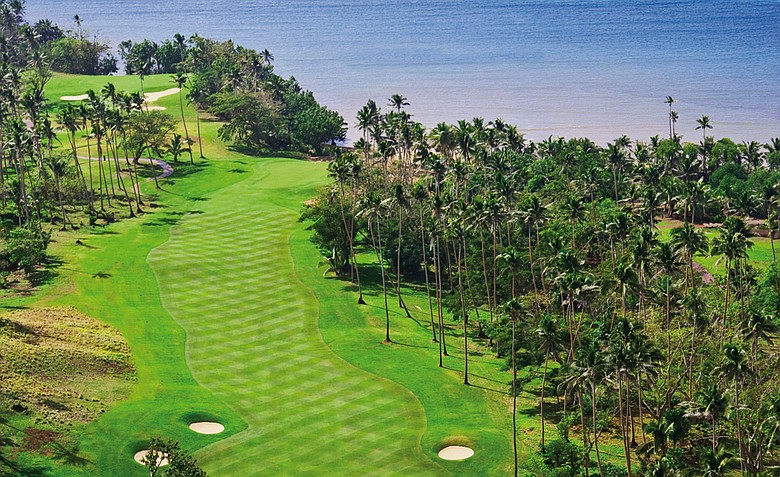 The 12th hole at Laucala Island