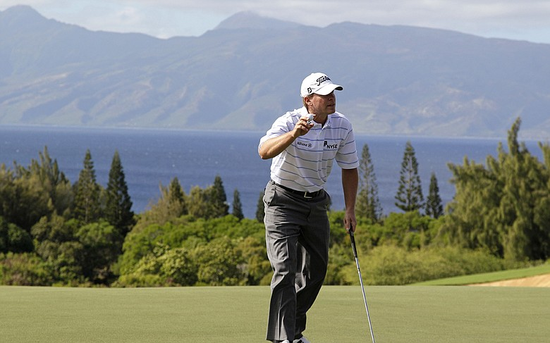 Steve Stricker during Round 2 of the Tournament of Champions.