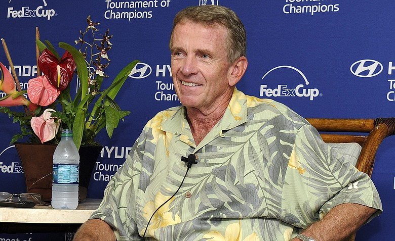 PGA TOUR Commissioner Tim Finchem is seen during a press interview during the third round of the Hyundai Tournament of Champions at Plantation Course at Kapalua.