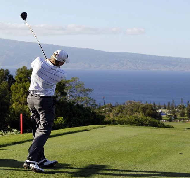 Steve Stricker at the 2011 Hyundai Tournament of Champions in Kapalua.