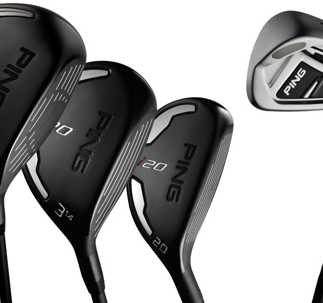 The new Ping i20 series, which includes drivers, irons, fairway woods and hybrids.