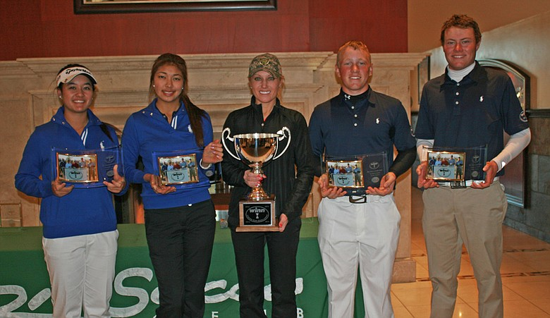 The West team won the AJGA Winn Junior Cup Challenge. From left: Gabriella Then, Alison Lee, captain Natalie Gulbis, Brad Dalke and A.J. McInerney.