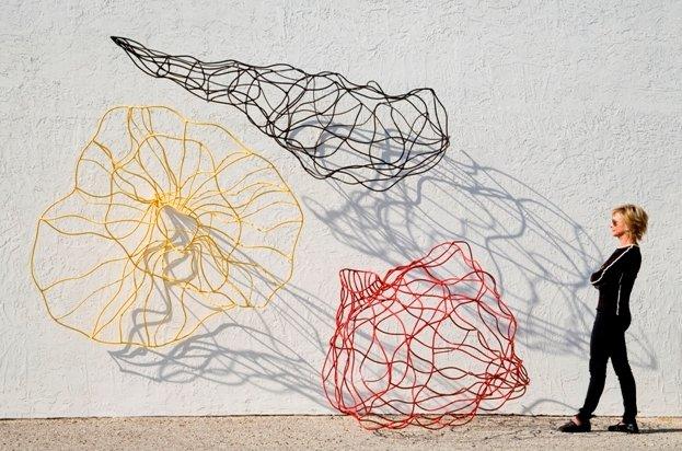 Barbara Sorensen's sculpture at the Orlando Museum of Art.