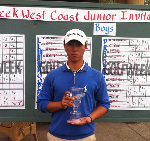 Ki Taek Lee won the Golfweek West Coast Junior Invitational at Whirlwind Golf Club in Chandler, Ariz.