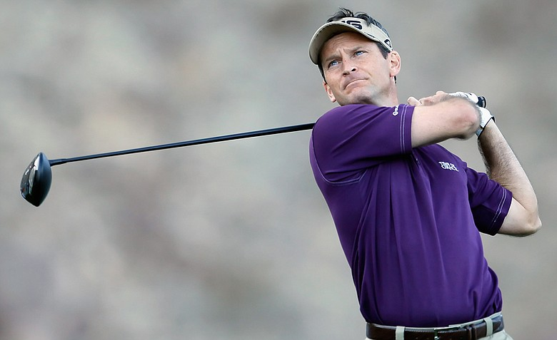 Mark Wilson hits a tee shot on the 14th hole during the final round of the Humana Challenge.