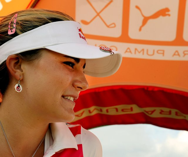 Lexi Thompson during the Demo Day for the PGA Merchandise Show.