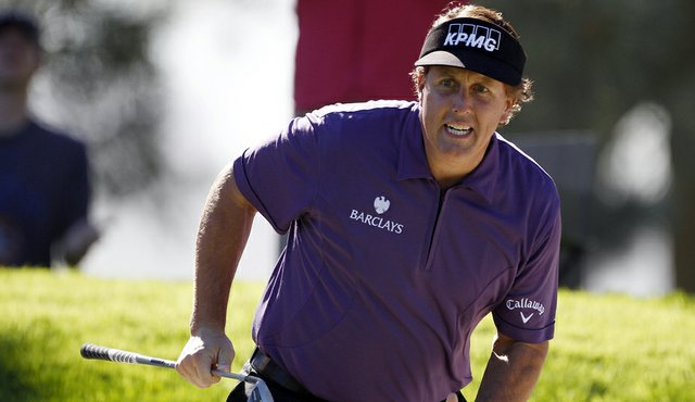 Phil Mickelson at the Farmers Insurance Open.