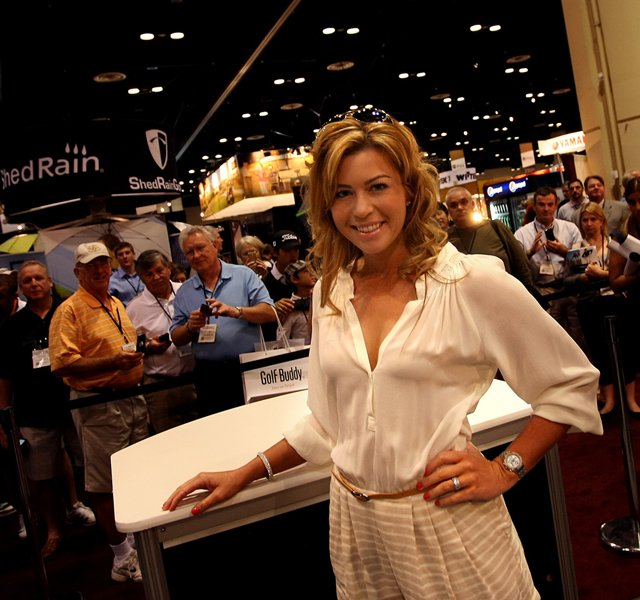 LPGA golfer Paula Creamer made an appearance at the Sundog eyewear booth on Friday at the PGA Merchandise Show.