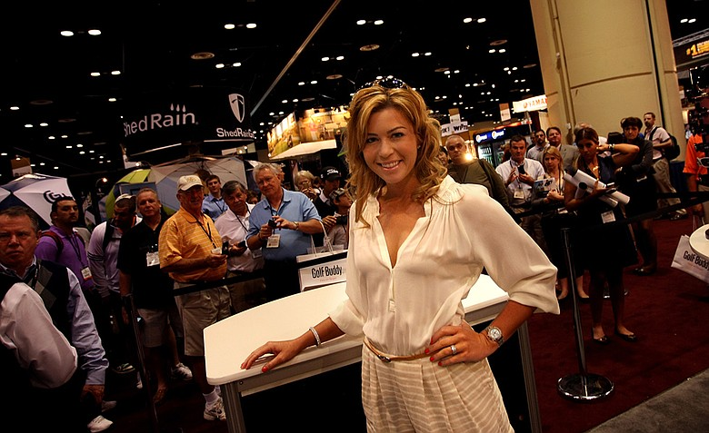 LPGA golfer Paula Creamer made an appearance at the Sundog eyewear booth on Friday at the PGA Merchandise Show.