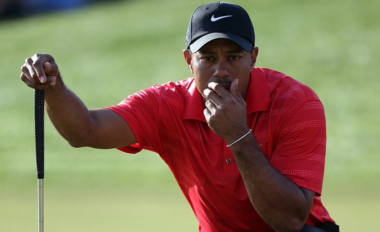 Tiger Woods had 27 putts on Sunday, the fewest of all four rounds - yet shot his worst overall score.